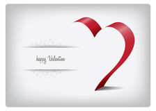 Heart. Valentine greeting card with heart and text Royalty Free Stock Images