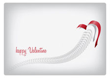Heart. Valentine greeting card with heart and text Stock Photos