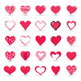 Heart valentine icon set stock illustration