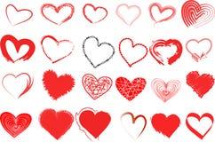 Heart valentine icon set Royalty Free Stock Photo