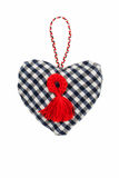 Heart-Valentine on an isolated background. Handmade  symbol heart on isolated background Royalty Free Stock Photo