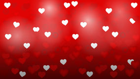Heart valentine light vector background. Valentine's day background with hearts Royalty Free Stock Photos