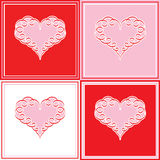 Heart Valentine retro fashion love sweet heart note card Royalty Free Stock Photo