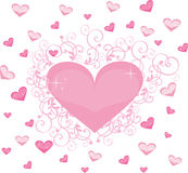 Heart valentine's. Abstract heart love valentine's color isolared Royalty Free Stock Photo
