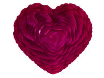 Heart for Valentine's card. Flower heart. Heart from petals. Love symbol. The background for Valentine's cards Royalty Free Stock Photo
