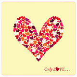 Heart for Valentine's Day. With blank space Royalty Free Stock Photo