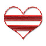The heart. Valentine`s Day. Beautiful red heart with texture Stock Image