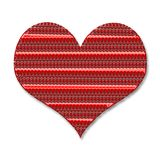 The heart. Valentine`s Day. Beautiful red heart with texture Stock Photo