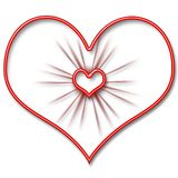 The heart. Valentine`s Day. Beautiful red heart with texture Royalty Free Stock Images