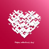 Heart for Valentine's day card, Overlapping shapes Royalty Free Stock Photo
