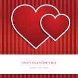 Heart Valentine's day card Stock Photos