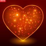 Heart of Valentine`s Day, flash royalty free illustration