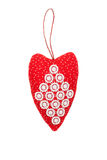 Heart for Valentine's day on an isolated background. Valentines handmade heart on an isolated background Royalty Free Stock Images