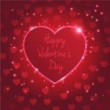 Heart valentine's day light Stock Photography