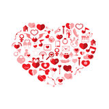 The Heart Valentine's day. Love icon Royalty Free Stock Photography