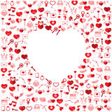 The Heart Valentine's day. Love icon Royalty Free Stock Photo