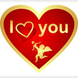 Heart for Valentine's Day. Is presented Royalty Free Stock Images