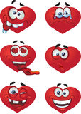 Heart Valentine`s day smiles Royalty Free Stock Image