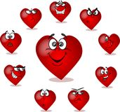 Heart on Valentine's Day,vector Royalty Free Stock Images