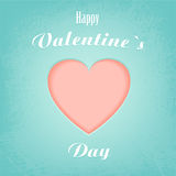Heart for valentine's day. Vector illustration Royalty Free Stock Images