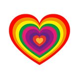 Heart for Valentine`s day. Vector illustration. Red heart for the Valentine`s day. Abstract heart on white background in flat design. Vector illustration Stock Photo