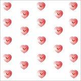 Heart valentine vector white background Stock Photo