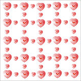 Heart valentine vector white background Royalty Free Stock Photo