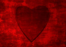 Heart of valentines. Red grunge backround with heart in center of image Stock Photography