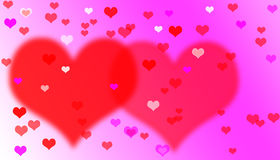Heart valentines background. Royalty Free Stock Images