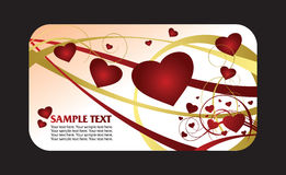 Heart valentines card Royalty Free Stock Images