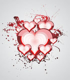 Heart Valentines Day background Stock Photo