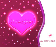 Heart Valentines Day background. Stock Images