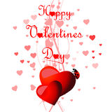 Heart Valentines Day background Royalty Free Stock Photography
