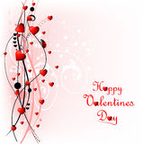 Heart Valentines Day background with ladybug Royalty Free Stock Photo