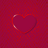 Heart for valentines day on grunge background Royalty Free Stock Image