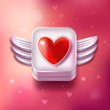 Heart Valentines day icon Stock Photo