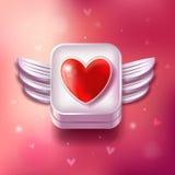 Heart Valentines day icon Stock Photo