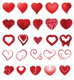 Heart on valentines day in love vector lovely red sign on hearted celebration and greeting card with loving and Royalty Free Stock Image
