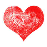 Heart Valentines day. Textured watercolor image isolated Stock Photography