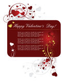 Heart valentines red background Stock Image