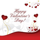 Heart valentines on red and white background. Heart valentines on white background Royalty Free Stock Photography