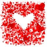 Heart.Valentines skład ilustracja wektor