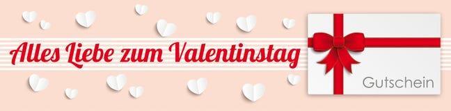 Heart Valentinstag Gutschein Header Royalty Free Stock Image