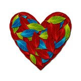 Heart by variety color leaf Stock Images