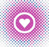 Heart Vector. Heart symbol, simple Valentine card, vector Stock Images