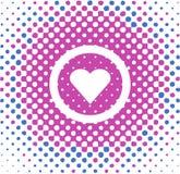 Heart Vector. Heart symbol, simple Valentine card, vector stock illustration