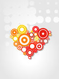Heart Vector aristic design. Vector funky artistic colorful heart design Stock Photos