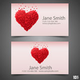 Heart vector business card Royalty Free Stock Photos