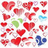 Heart vector collection Royalty Free Stock Image