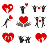 Heart vector concepts Royalty Free Stock Image